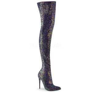 "Shoes - 5"" High Heel Glitter Stiletto Thigh High Boots"